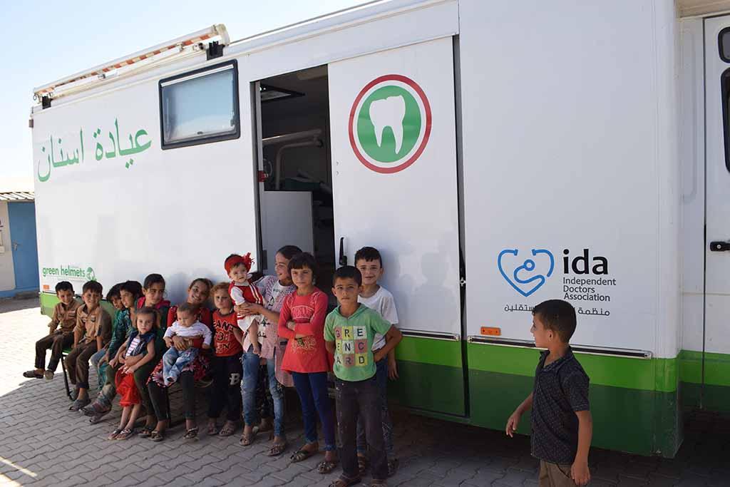 Das Zahnarztmobil in Syrien, das seit 2019 im Einsatz ist