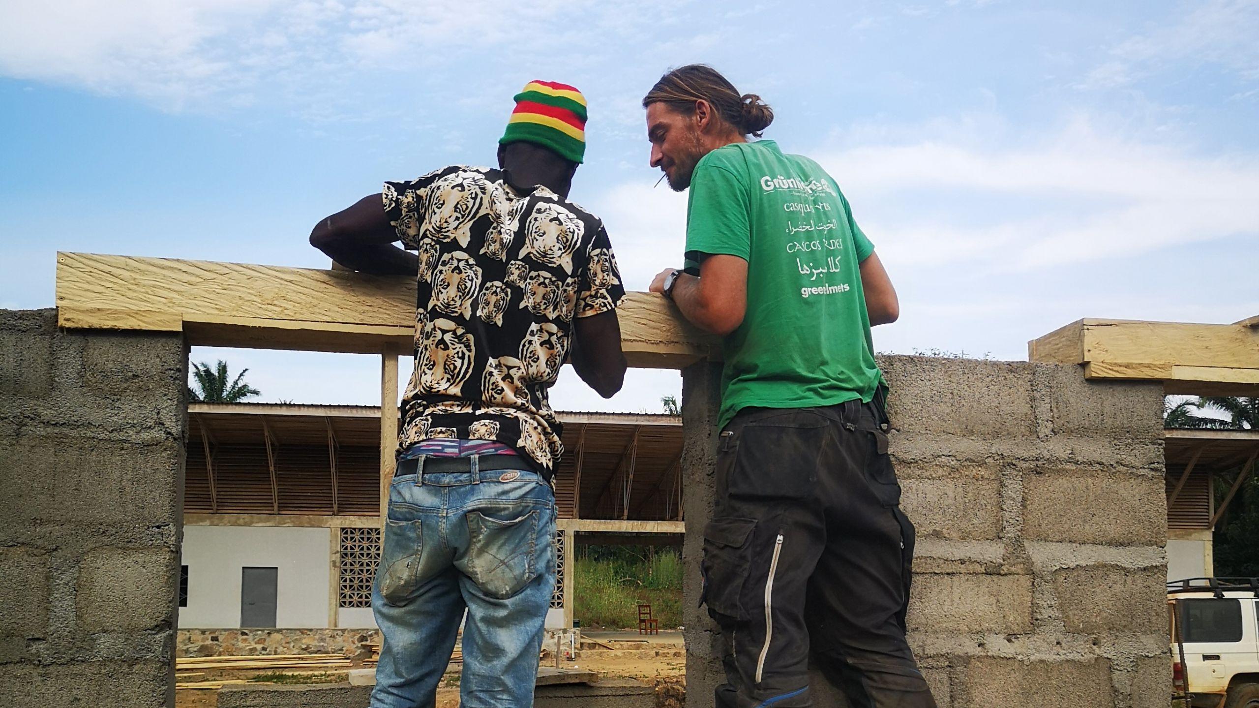 Schulbau in Mansadu in Sierra Leone