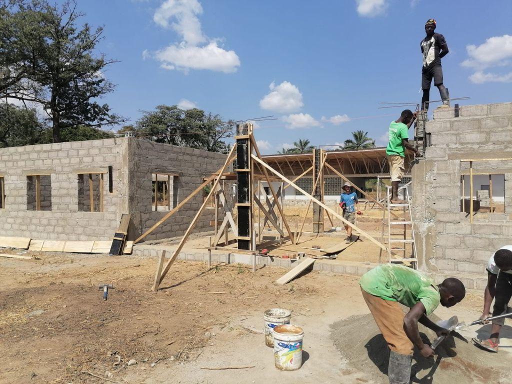Baustelle in Mansadu Anfang 2021